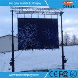 P3.91 pantalla al aire libre del alquiler LED con la curva +-10