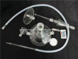 Pipe en verre claire fabriquée à la main de narguilé de fumée de tabac