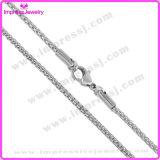 Vente en gros de bijoux en Chine Silver Tone Box Chain Chain en acier inoxydable