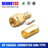 Conetor de cabo coaxial fêmea do ângulo direito de SMA