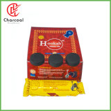 Tablette rapide de charbon de bois de narguilé d'éclairage de forme ronde de Hong Qiang