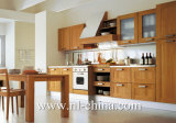 Module de cuisine résistant en bois solide de cerise de l'eau