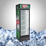 Singolo frigorifero di vetro dritto della vetrina del portello
