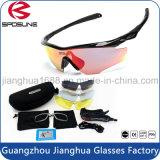 Soldadura alto desmontable del taller y marco durable de las gafas de seguridad del corte con 5 anteojos permutables del deporte de las lentes