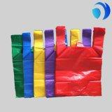 Impression en plastique bon marché de sacs à provisions de T-shirt de la coutume HDPE/LDPE