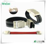 Movimentação de couro elegante do flash do USB do Wristband com baixo custo (WY-L01)
