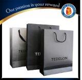 Роскошная черная оптовая продажа хозяйственной сумки бумаги мешка
