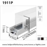 J. 1911 Series LED Profile with Different PC Cover Extrusion de canal d'aluminium