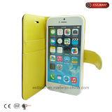 iPhone 7のためのPUの革フリップポルカドットの携帯電話の箱