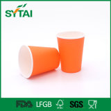 7.5 Unze-kundenspezifische Entwurfs-Papier-Wegwerfkaffeetasse für heiße Getränke