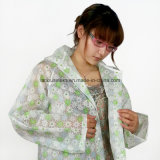 비를 위한 방수 짧 유형 신선한 인쇄된 Rainsuit