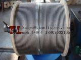 Câble métallique d'acier inoxydable de solides solubles 304