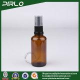 bernsteinfarbige nachfüllbare Glasflaschen des spray-50ml mit schwarzem feinem Plastiknebel-Sprüher