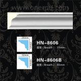 Corniche de polyuréthane de décoration de plafond d'unité centrale de longeron de présidence moulant Hn-8606