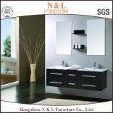 Gabinete moderno da vaidade do banheiro do carvalho da madeira contínua de N&L