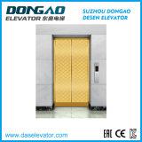 Specchio dorato di lusso che incide Steell inossidabile per il piccolo ascensore per persone della stanza della macchina