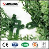 정원 장식을%s 쉽게 조립된 PE 인공적인 회양목 산울타리