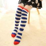 Donne spesse operate di Microfiber sopra gli alti calzini del ginocchio