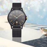 Reloj analogico de lujo 72116 de la venda del acoplamiento del acero inoxidable de los hombres de la manera del reloj de la alta calidad