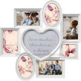 Пластичная Multi рамка фотоего стены сердца украшения Openning домашняя