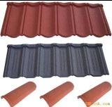 Покрасьте каменную Coated плитку крыши металла делая машину