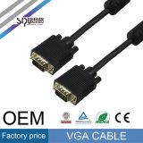 Câble du VGA du câble 15pin du VGA de Sipu 3+2 pour l'affichage à cristaux liquides de HD