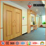 Bobine en aluminium de couleur en bois de regard d'Ideabond dans la porte (AE-302)