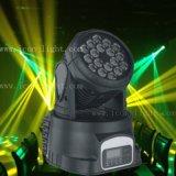 Iluminação principal movente do estágio do diodo emissor de luz da arruela 18X3w RGB da parede
