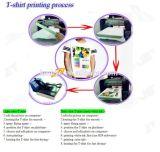 作中国の低価格のTシャツのロゴプリント機械