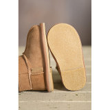 ヴェルクロ赤ん坊の利得の本物のLambskinの幼児靴