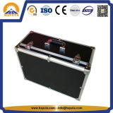 Maleta de aluminio del almacenaje de la caja de herramientas de la profesión del rectángulo negro del Uav con la espuma de encargo (HT-3028)