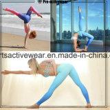 L'abitudine del fornitore della Cina mette in mostra i pantaloni di yoga della maglia delle ghette di forma fisica delle calzamaglia