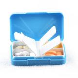 Caixa pequena plástica do comprimido do curso do tamanho de 4 compartimentos com tampa