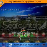 La fuente al aire libre de la piscina de la música del grado superior para goza