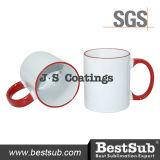 Taza de la maneta del borde de las tazas 11oz de la sublimación de las capas de Js - &#160 rojo; B11baa-09