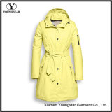 다채로운 비옷 여자의 두건을%s 가진 경량 Packable 긴 비옷
