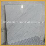 Azulejos de suelo de mármol blancos Polished italianos naturales de la cocina de Bianco Carrara