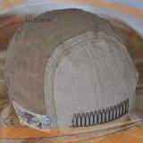 Tipo riccio ondulato parrucche superiori di seta della parrucca dei capelli biondi umani di Remy