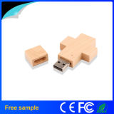Promocional Custom 4GB Wood Cross Shape Pen USB Flash Drive
