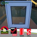 Окно самомоднейшей ручки для вращения удара урагана PVC дома стеклянное