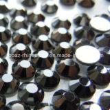 Piedra cristalina de la manera para los Rhinestones no calientes de la parte posterior plana del arreglo del negro de jet de señora Dress Ss10 (FB--ss10 jet black/3A)