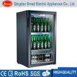 Refrigerador portátil do indicador do refrigerador do refrigerador da barra da parte superior de tabela de vidro da porta/parte superior contrária