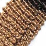 브라질 사람의 모발 연장 1b 27 30의 금발 깊은 파 머리 뭉치