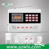 LED表示が付いている無線情報処理機能をもった機密保護のホームGSMの警報システム