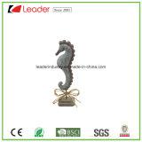 Estátuas decorativas do caranguejo da resina do bestseller com carrinho para a decoração Home