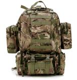 Camper s'élevant Wearproof en nylon solide de sport en plein air augmentant la course combinée de Molle de trekking met en sac le sac tactique militaire Yf-Cmb1604 de sac à dos