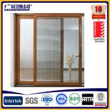 El aislamiento térmico de aluminio puerta corredera de madera con doble cristal