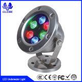 アルミニウム36W IP68 4ワイヤーおよび3個のループRGB LED水中ライト