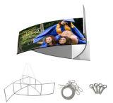 Bandera colgante giratoria de la muestra del marco del Pinwheel de la visualización de la exposición/de la feria profesional