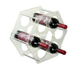 Única caixa plástica desobstruída do vidro de vinho